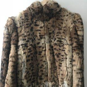 Gorgeous VINTAGE rabbit fur jacket *Size Small WOW